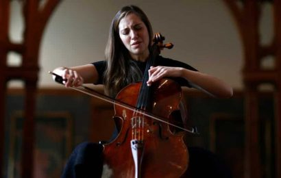 Healing art: Cellist performs classic works against backdrop of deserted museum
