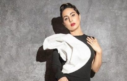 Hina Khan stuns in a black and white gown at Gold Awards 2020 – view pics