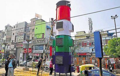 Gautam Gambhir inaugurates first-of-its-kind giant air purifier in Delhi's Gandhi Nagar market