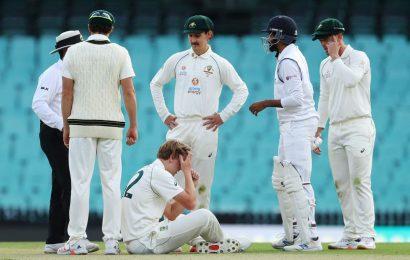 Australia's Green struck on head during warm-up match