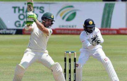 Elgar falls short of ton as S Africa fight back against Sri Lanka