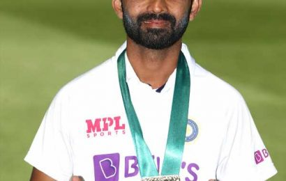 Special medal for Man of the Match Rahane