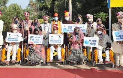 Differently abled couples tie knot at mass wedding