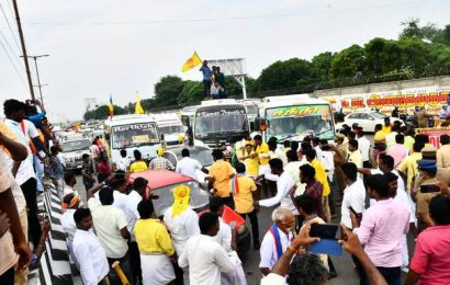 Traffic hit on GST Road in Chennai as PMK cadre go on protest