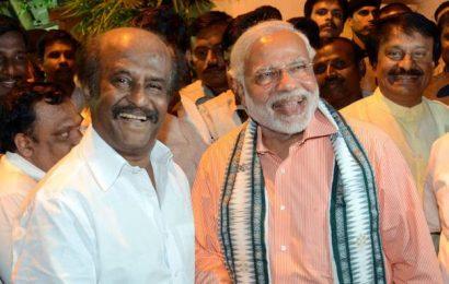 PM Modi greets Rajinikanth, Sharad Pawar