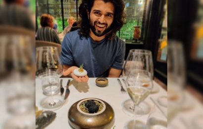Vijay Deverakonda in awe of French gastronomic delicacy