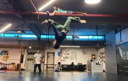 Tiger Shroff literally hits the roof with his 10-feet-high kick, Disha Patani calls him 'insane'