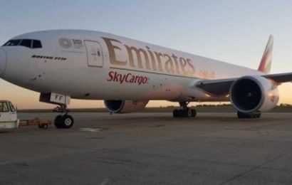 Emirates cargo flight carrying satellite lands in Chennai