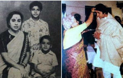 Amitabh Bachchan remembers mother Teji on her death anniversary, shares pic of 'a very special day' from his childhood