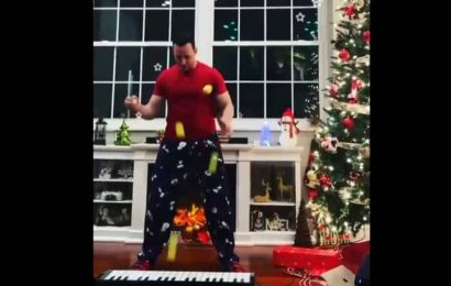 Clip shows man playing the keyboard by juggling tennis balls on it, amazes netizens