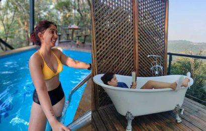 Aamir Khan's daughter Ira Khan chills in a pool, enjoys reading in a bathtub during Lonavala getaway. See pics
