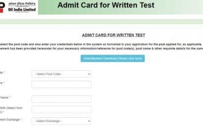 Oil India admit card 2020 for Technician, Assistant Mechanic and other posts released, here's direct link