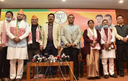 Big blow for Congress ahead of Assam polls as two sitting MLAs join BJP