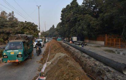 Dug up stretch around Narwana Road triggers traffic chaos, irks locals