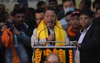 Gorkha leader Bimal Gurung, TMC's new ally, holds first rally in Darjeeling