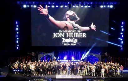 Jon Huber, son Brodie Lee Jr paid tribute on AEW Dynamite after his death