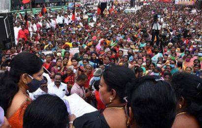 DMK stir against LPG cylinder price hike