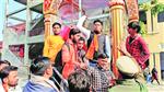 Four ABVP members booked for vandalism  over Jain goddess idol