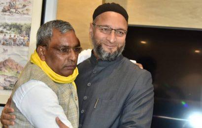 Asaduddin Owaisi seeks to gain foothold in UP, meets SBSP chief OP Rajbhar
