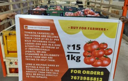 'Buy for farmers': Hyderabad techies' group helps tomato farmers get better price