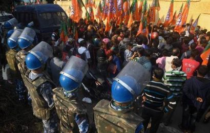 BJP, Trinamool supporters face off during roadshow in Kolkata