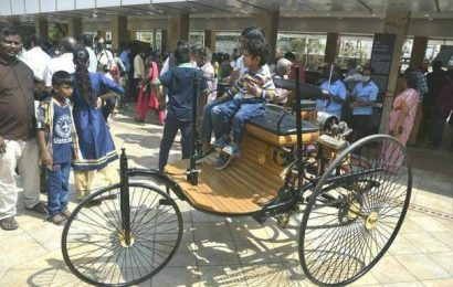 Replica of world's first car attracts attention, at display in Chennai