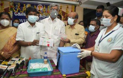 Covishield vaccine vials for TN's central districts reach Tiruchi