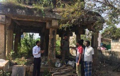 'Dongala Mandapam' in a state of ruin
