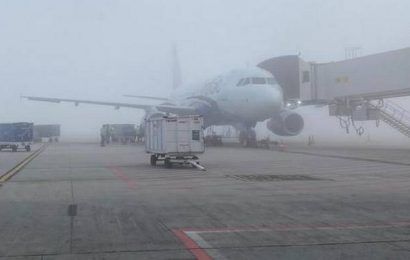 Flight lands at KIA in poor visibility