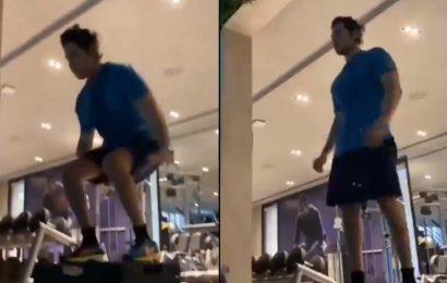 Jumping Japang: Mahesh Babu Box jump