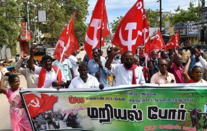 CITU stages road roko against farm laws