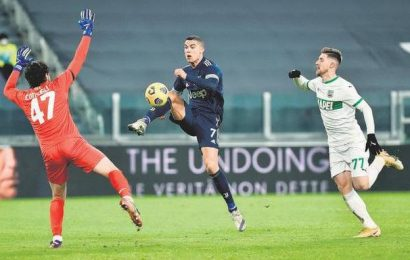 Juventus struggles past Sassuolo