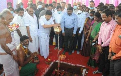 Law Minister lays foundation stone for Geological park