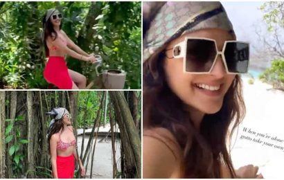 Kiara Advani says she is taking her own pictures in Maldives as fans speculate romantic vacation with Sidharth Malhotra