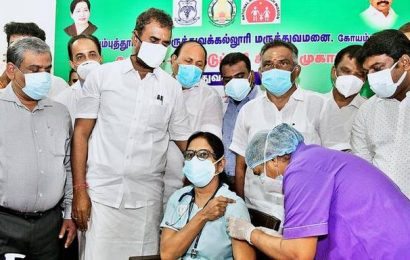 57,004 frontline workers register online for vaccination in Coimbatore: Minister