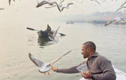 Shikhar Dhawan feeds birds in Varanasi, his boatman to face action