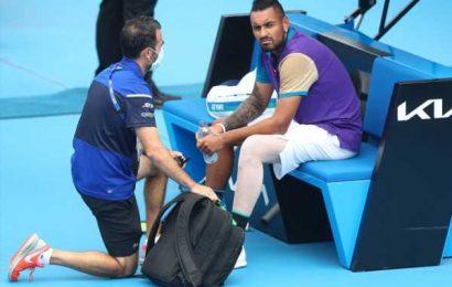 Kyrgios loses temper, match at Murray River Open