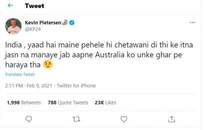 'Yaad hai maine chetawani di thi': KP tells India fans after 1st Test
