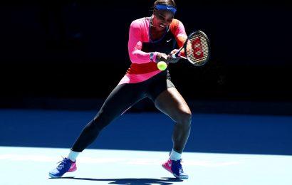 PIX: Serena sizzles in single-leg leotard at Aus Open
