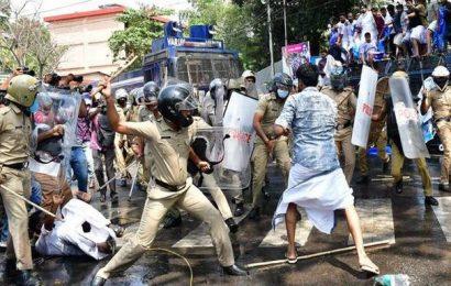 PSC rank holders' agitation turns violent