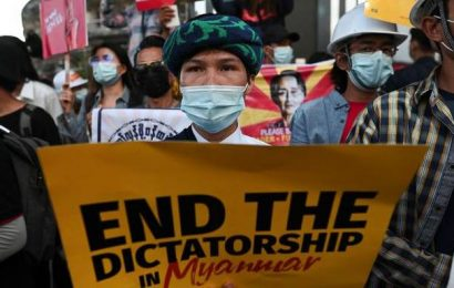 Myanmar forces use tear gas, rubber bullets on protesters