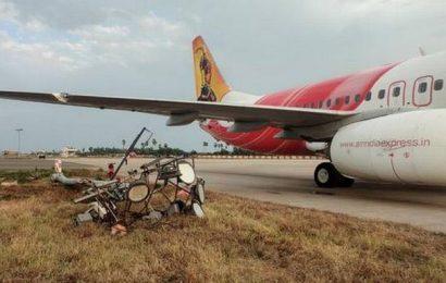 Plane hits pole at Gannavaram airport
