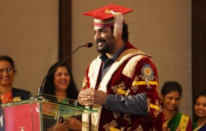 R Madhavan receives honour for contribution to arts, cinema