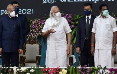Modi unveils key projects for Tamil Nadu