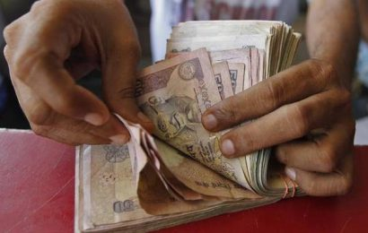 Rupee slips 8 paise to close at 72.43 against U.S. dollar