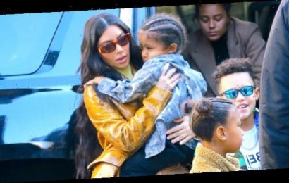 Kim Kardashian Smothers Son Saint, 5, With Kisses As He Photobombs Her IG Story — Watch