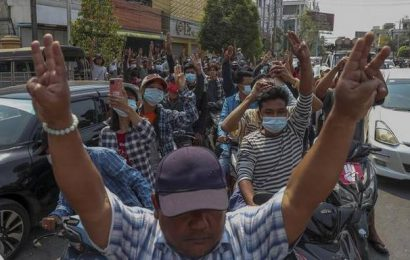 Myanmar protesters, undaunted by killings, march again