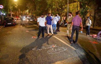 SUV case   NIA recreates crime scene with Sachin Waze near Ambani's house 'Antilia'