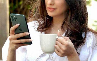 Want to peek into Laxmi Raai's phone?
