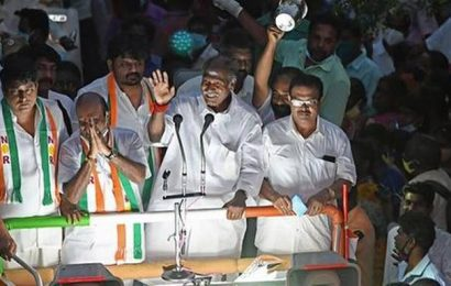 Puducherry Assembly Elections   Statehood only solution to solve fund crunch: AINRC manifesto